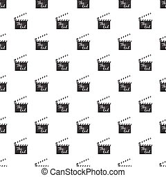 Clapperboard pattern seamless repeat in cartoon style vector...