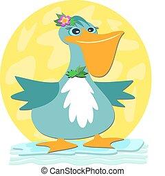 Happy Blue Pelican