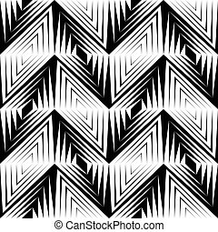 326-21 - Seamless Geometric Pattern. Vector Black and White...