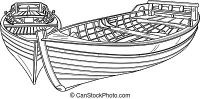 boats.eps - Vector line drawing