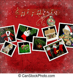 Christmas Collage - Variety of holiday scenes in collage...