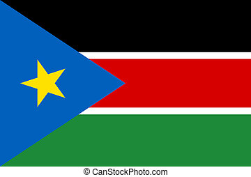 South Sudan flag. National current flag, government and...