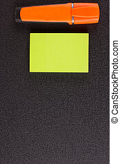 marker sticker on flip chart - office, business, and...
