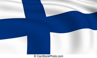 Flying Flag of FINLAND | LOOPED |