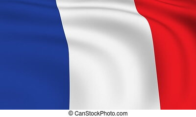 Flying Flag of FRANCE | LOOPED |