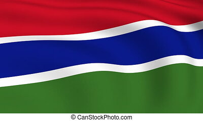 Flying Flag of GAMBIA | LOOPED |