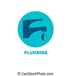 Plumbing repairs. Elimination of water leakage. Logo...
