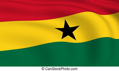 Flying Flag of GHANA | LOOPED |