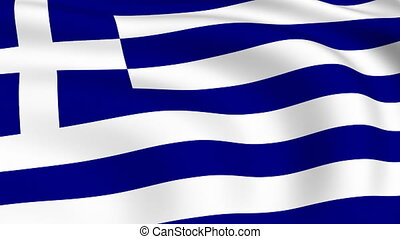 Flying Flag of GREECE | LOOPED |