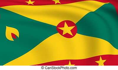 Flying Flag of GRENADA | LOOPED |