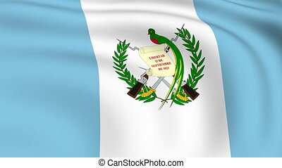 Flying Flag of GUATEMALA | LOOPED |