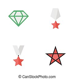 Vector Illustration Set Of Simple Champ Icons. Elements...