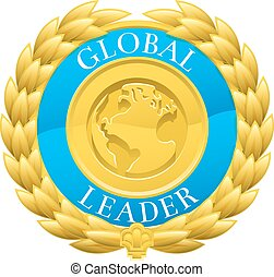Gold Global Leader Winner Laurel Wreath Medal