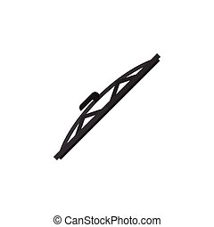 Isolated Auto Wiper Flat Icon. Windshield Vector Element Can Be Used For Windshield, Auto, Wiper Design Concept.
