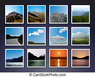 Vectorized landscape pictures - A set of 12 vectorized...