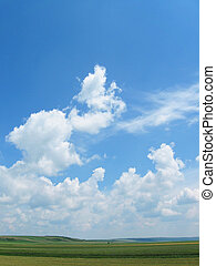 Sky With Fluffy Clouds