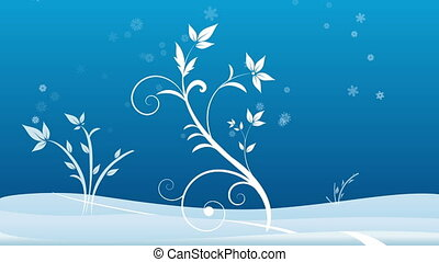 Winter background - Animated winter themed background with...