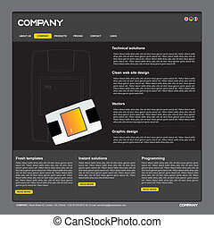 Vector web site design template - Clean vector web site...