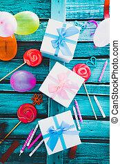bexigas, aniversário, objetos