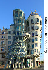 Dancing House, Prague - Famous landmark of Prague - Dancing...
