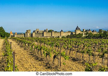 Carcassonne fortress, France - Carcassonne is one of...