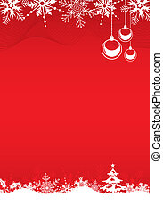 Christmas background with tree, bell and decoration element,...