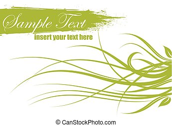 spring vector illustration with text space