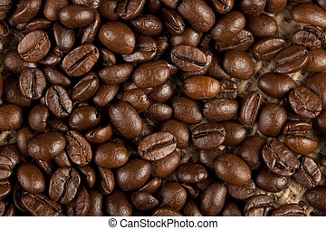 Close-up of nice coffee beans - Close-up macro of nice...