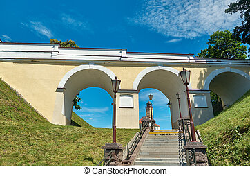 ancient castle. - ancient castle, located in Grodno, Belarus