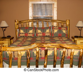 King Size Bed in Cabin