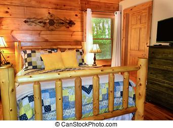 ospite, cabina, camera letto