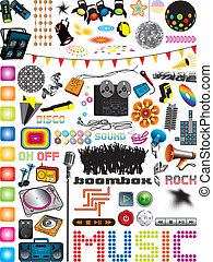 Music Graphics - Vector graphics collection with many...