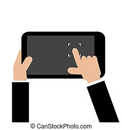 Touch To Focus On Smartphone Vector Illustration