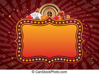 casino background - casino design elements and neon...