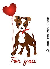 Jack Russell Illustration isolated - Cute Jack Russell with...
