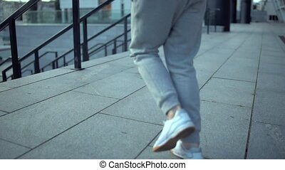 Senior active man running in the urban area - Every day...