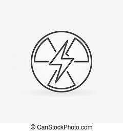 Nuclear power outline icon - vector energy sign or design...