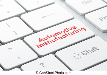 Manufacuring concept: Automotive Manufacturing on computer...