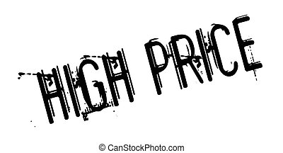 High Price rubber stamp. Grunge design with dust scratches....