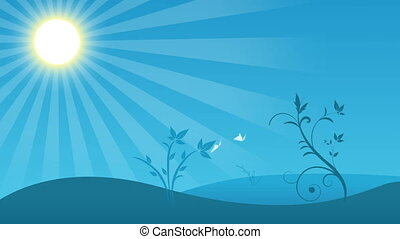 Spring background - animated spring themed background with...