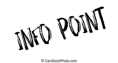 Info Point rubber stamp. Grunge design with dust scratches....