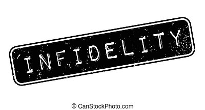 Infidelity rubber stamp. Grunge design with dust scratches....