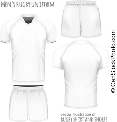 Rugby jersey and shorts. - Rugby uniform: jersey and shorts....
