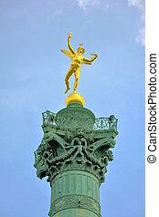 July Column in Paris - July Column sculpture on Place de la...