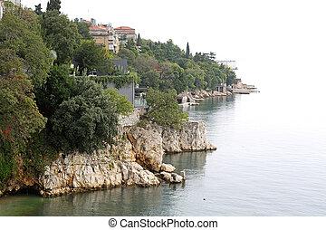 Adriatic Coast - Rough Stone Coast at Adriatic Sea