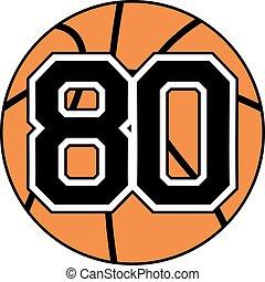 80 basket symbol - Creative design of 80 basket symbol