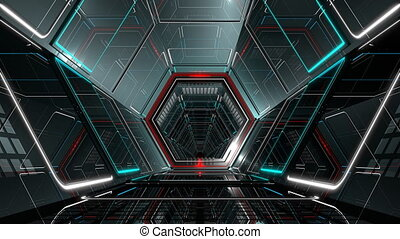 VJ Hexagonal Tunnel - 4K Ultra HD hexagonal tunnel....