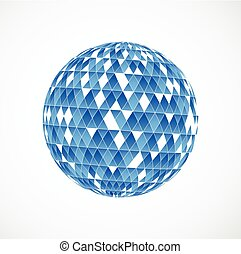Abstract geometric sphere background