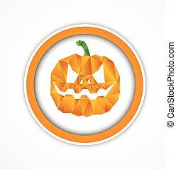 Halloween background. Pumpkin face.