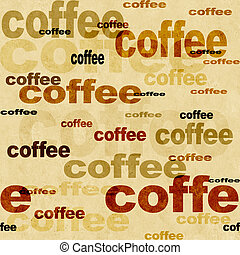 Coffee - seamless grunge background of brown color